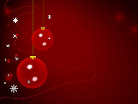christmas motif: Illustration of a Christmas motif, red finish Stock Photo