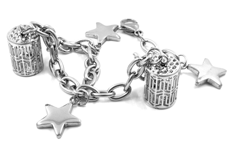 charms: Ladies bracelet charms on a white background