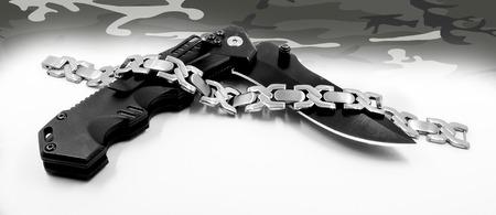 isoalated: Bracelet for men. Stainless steel. Gift of love Stock Photo