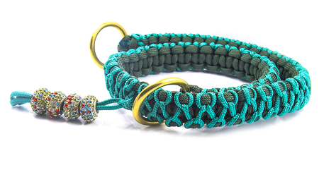 large dog: Collar for large dog - Knitted - Paracords