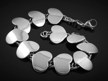 Ladies bracelet - Stainless Steel - Black background