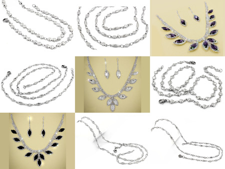 stainless: Large Sets of Jewelry - Stainless Steel - One color background