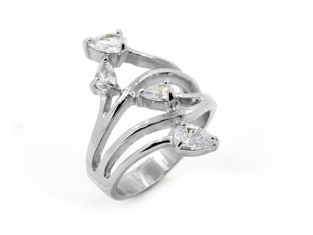 diamond ring: Romantic Ring - Stainless steel - One background color