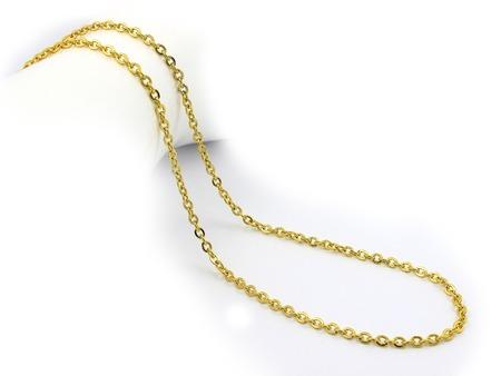 Juwel-Halskette - Edelstahl - Einfarbiger Hintergrund Standard-Bild - 88769213