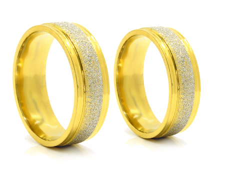 Wedding rings - Stainless steel - One background color