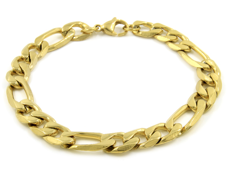 Jewel Gold Bracelet. Stainless steel. One color background
