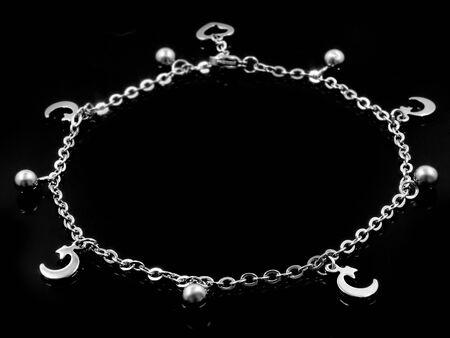 Ankle Bracelet. Stainless steel. One color background