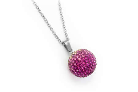 Jewelry Pendant Balls. Stainless steel and zircons. One color background. Non-branded OEM product
