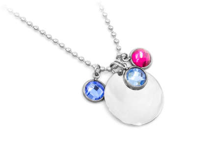 Stainless steel necklace for women. One color background. OEM product