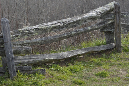 OLD SPLIT RAIL SECTION