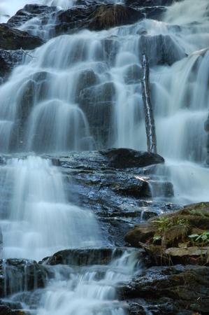 several water fall drops