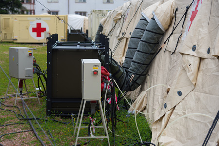 Field hospital Stock Photo