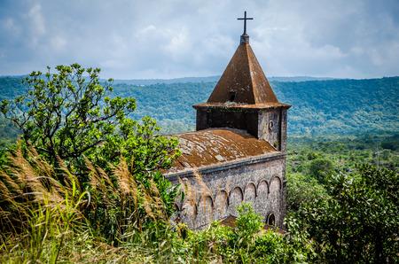 De ruïnes van een kerk Stockfoto
