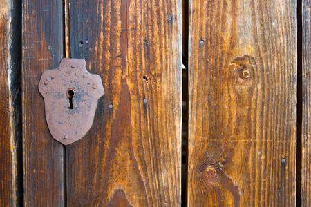 doorway: The old lock in the ancient doorway