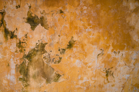 very dirty: Very old dirty orange wall. Vintage background Stock Photo