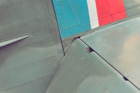 gun sight: Close up of the vintage airplane Supermarine Spitfire Stock Photo