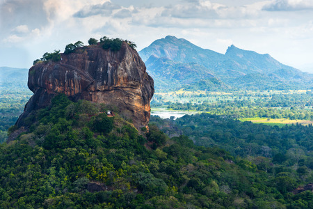 Sigiriya Lion Rock fort en landschap in Sri Lanka.