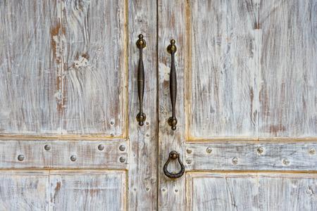 Vintage witte deur