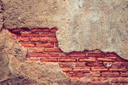 Oude gebarsten muur Stockfoto