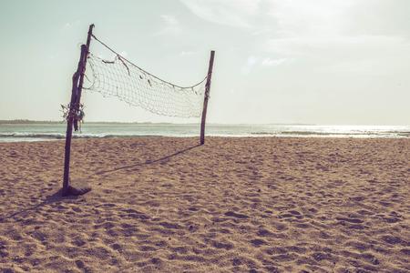 Volleybal net op het strand