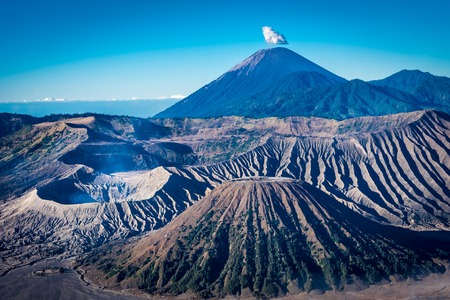 View from the hilltop of Bromo area.