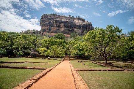 Beautiful ancient Lion Rock fortress Sigiriya. Sri Lanka.