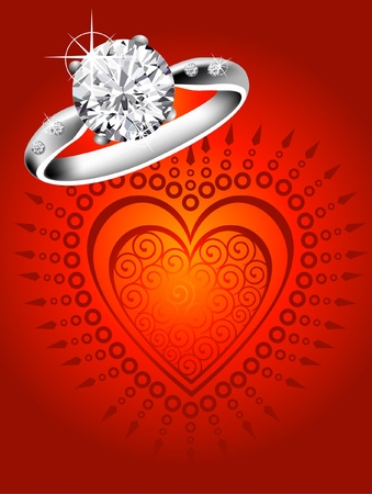 diamond ring Stock Vector - 9194734