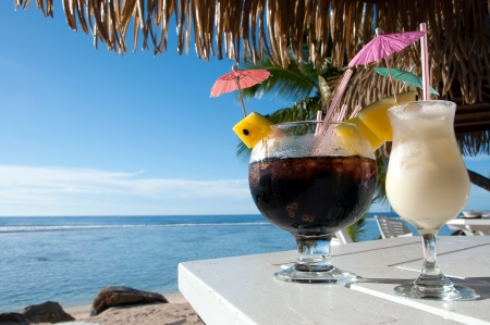 Cocktails at the beach photo