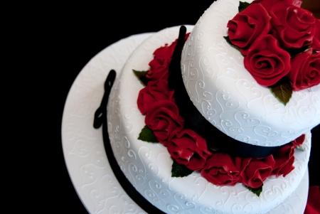 Rose wedding cake  Stock Photo