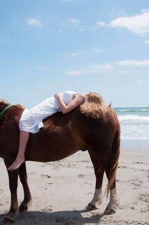Relaxing on the horse
