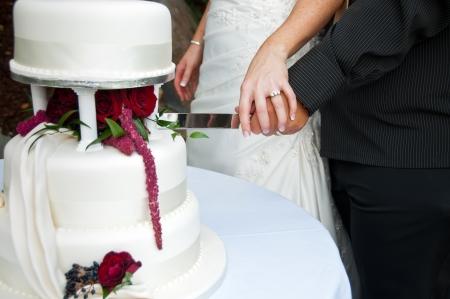 pastel de bodas: Novia y novio, torta de bodas de corte