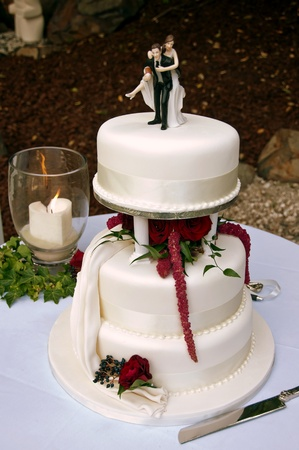 fondant: Wedding Cake Stock Photo