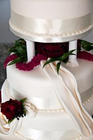 Three Tiered wedding cake Stock Photo