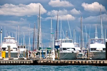 moorings: Yachts and boats at a marina