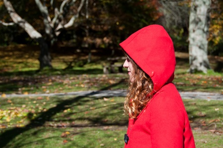 Red riding hood in the park