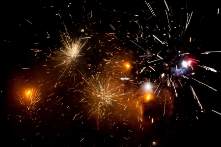 guy fawkes: Fireworks on New Years eve