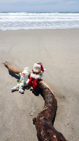 Beach Christmas celebration in the southern hemisphere