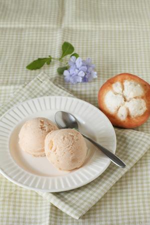 sorbet: santol sorbet lody ze świeżych santol miarka