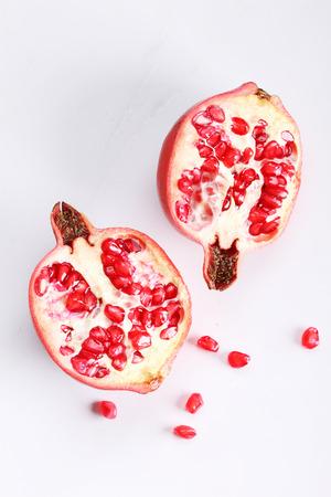 pomegranat: pomegranate, red juicy pomegranates on white background