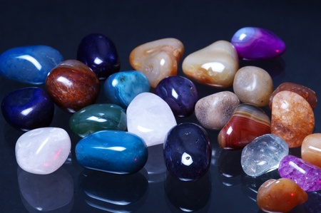 crystal therapy: Polish Stones on Glass