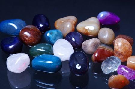 Polish Stones on Glass Фото со стока - 10438730
