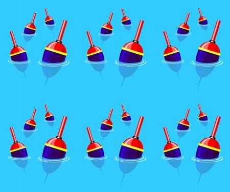 fishing hook: seamless background pattern on fishing Illustration