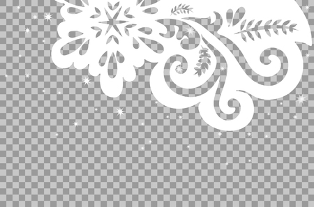 Winter pattern for Christmas cards on transparent background.