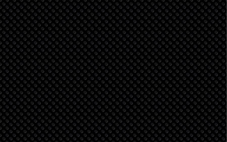 Black background is an illusion of bump and relief, like plastic. Seamless vector pattern.