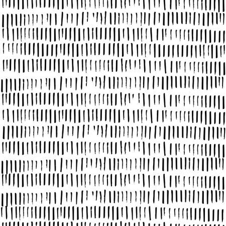 Seamless pattern. Strokes in rows, sticks drawn with felt-tip pen or ink.