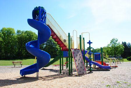 School Yard Playscape Stock Photo