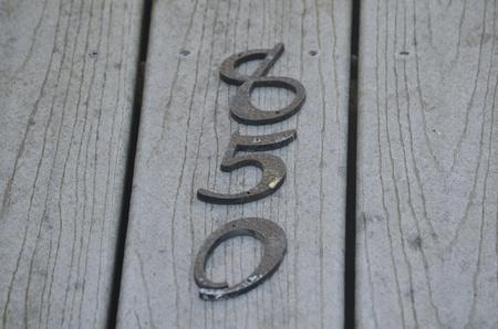 House numbers Reklamní fotografie