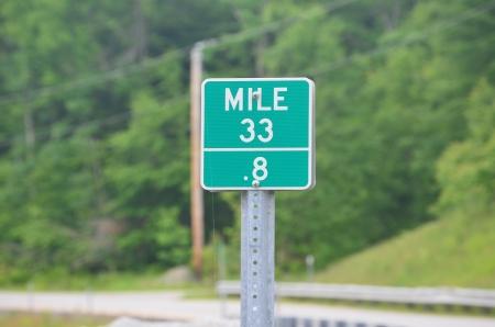 mile: Mile marker sign