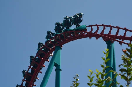 Rollercoaster with no riders Stock Photo