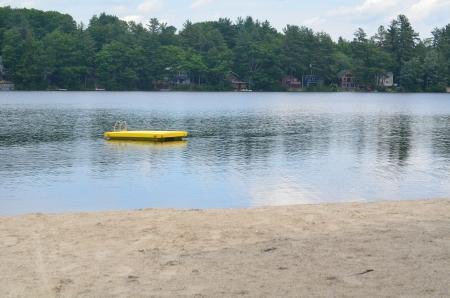 raft in a lake